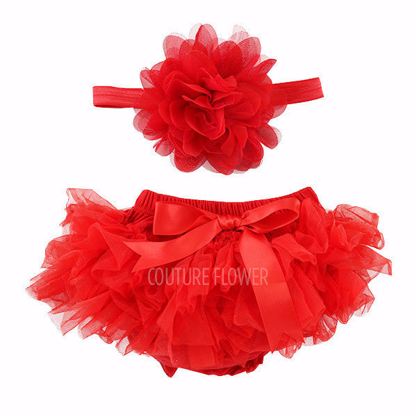 Red Tutu Bloomer & Headband Set