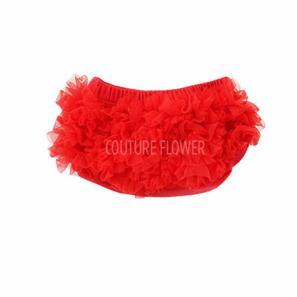 182ebe4454 Red Ruffle Bottom Bloomer - Couture Flower