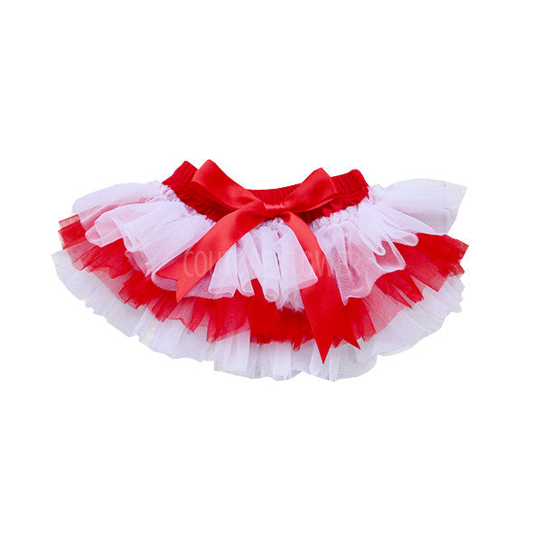 Team Colors Red and White Tutu Bloomer