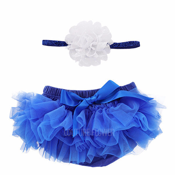 Royal Blue Tutu Bloomer & Headband Set