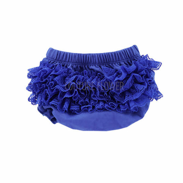 Royal Blue Lace Ruffle Bottom Bloomer