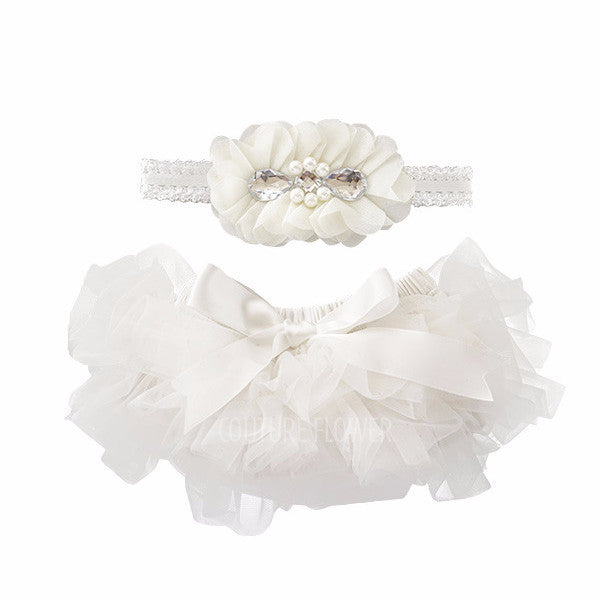Off White Tutu Bloomer & Headband Set