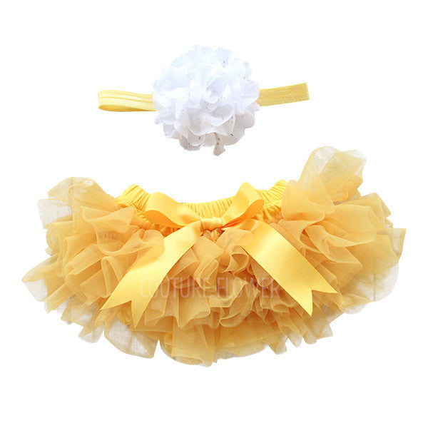 Golden Tutu Bloomer & Headband Set