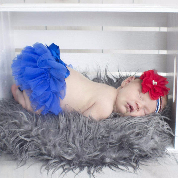 Royal Blue 4th of July Tutu Bloomer & Headband Set