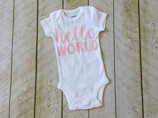 """hello world"" Bodysuit & Tutu Bloomer Set in Pink"