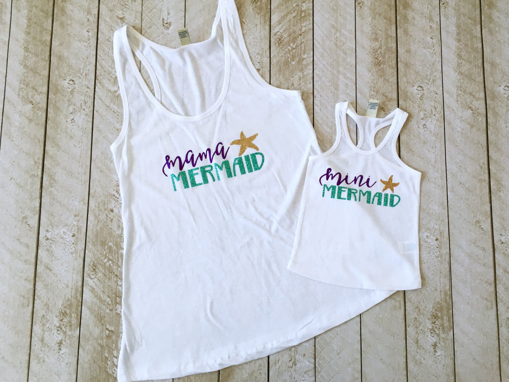 Mama Mermaid and Mini Mermaid Tank Set