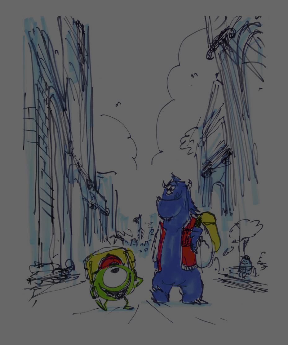 Monsters University Pixar Art Collection