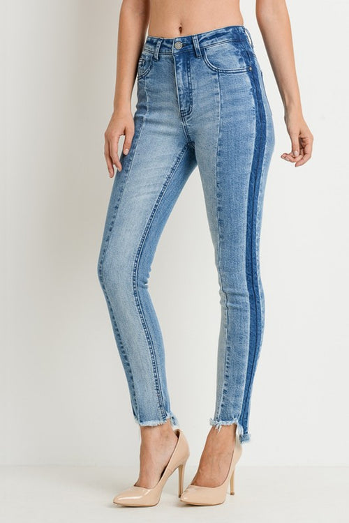 High Waist Multi Cut Denim