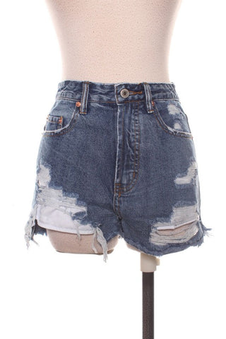 Sage Paperbag Edge Shorts