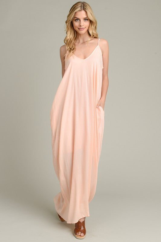 Light Peach Maxi Dress
