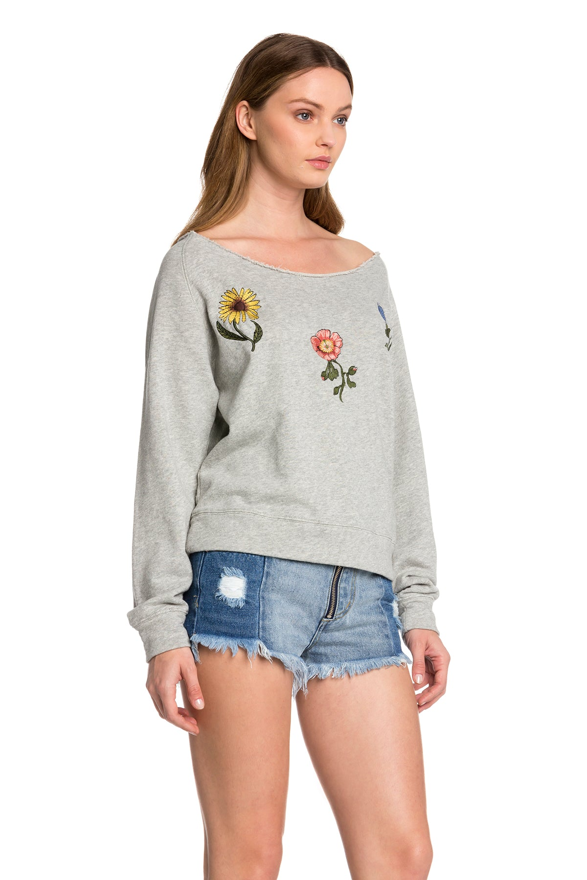 Wide Neck Floral Sweater - Dawn and Rae Boutique