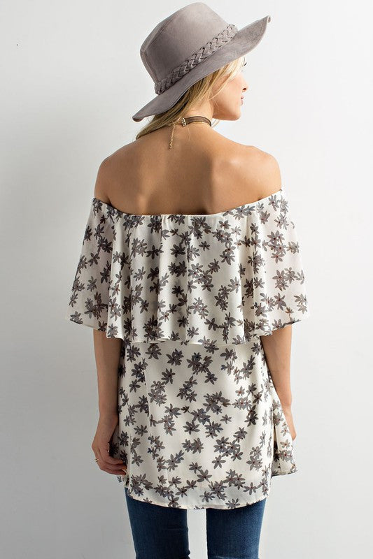 Petal Bliss Off The Shoulder Top - Dawn and Rae Boutique