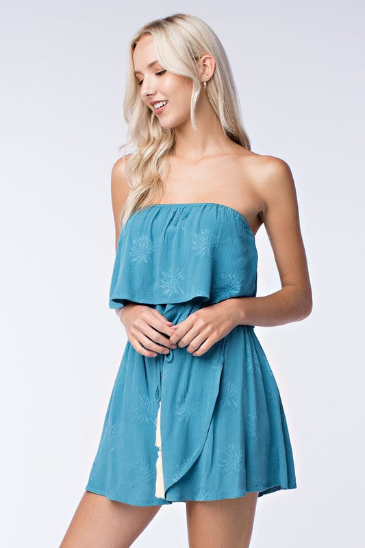 Seafoam Strapless Wrap Dress - Dawn and Rae Boutique