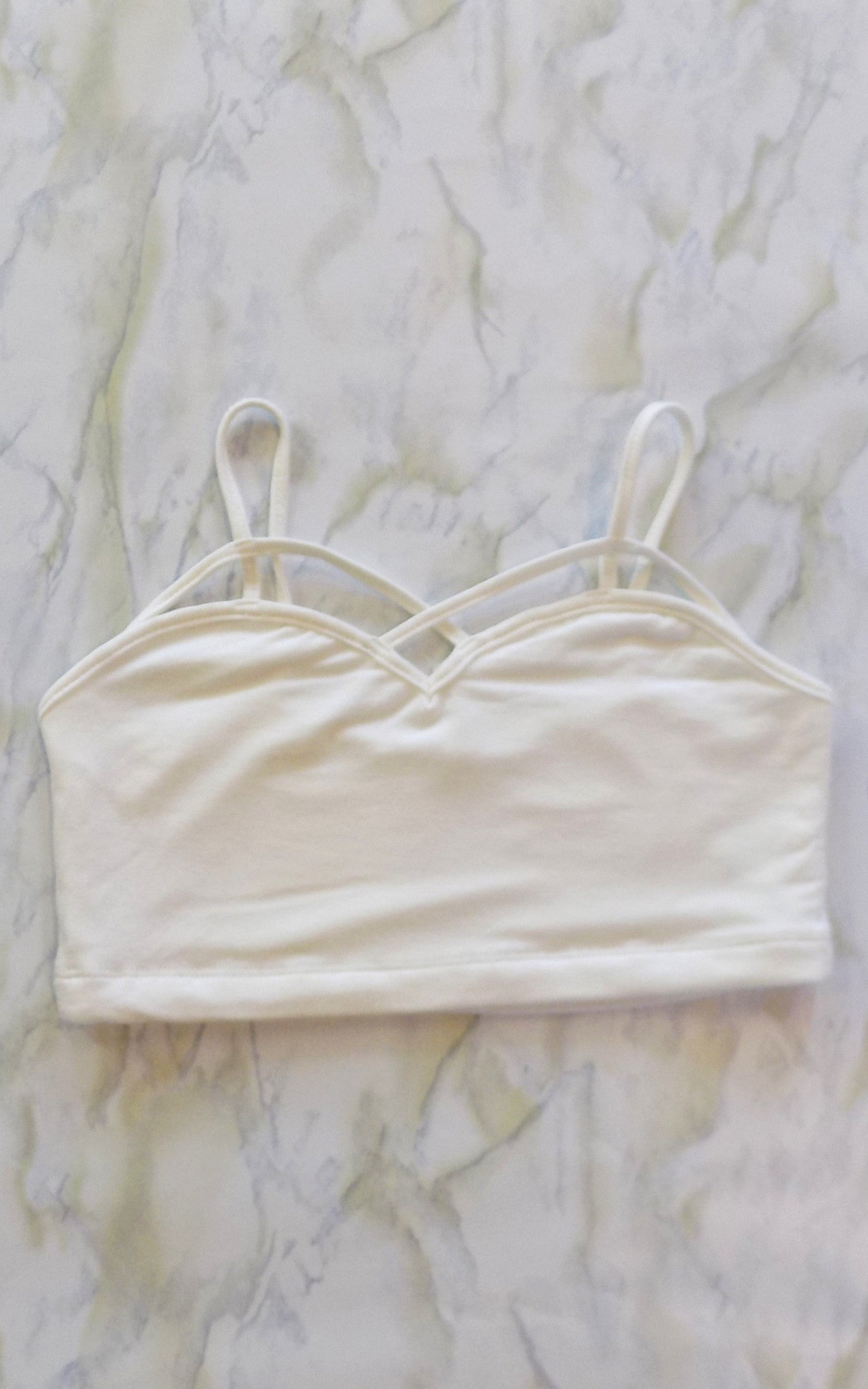 Front Strap Ivory Bralette - Dawn and Rae Boutique