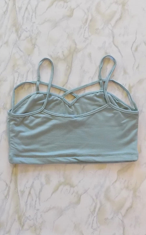 Front Strap Aqua Bralette - Dawn and Rae Boutique