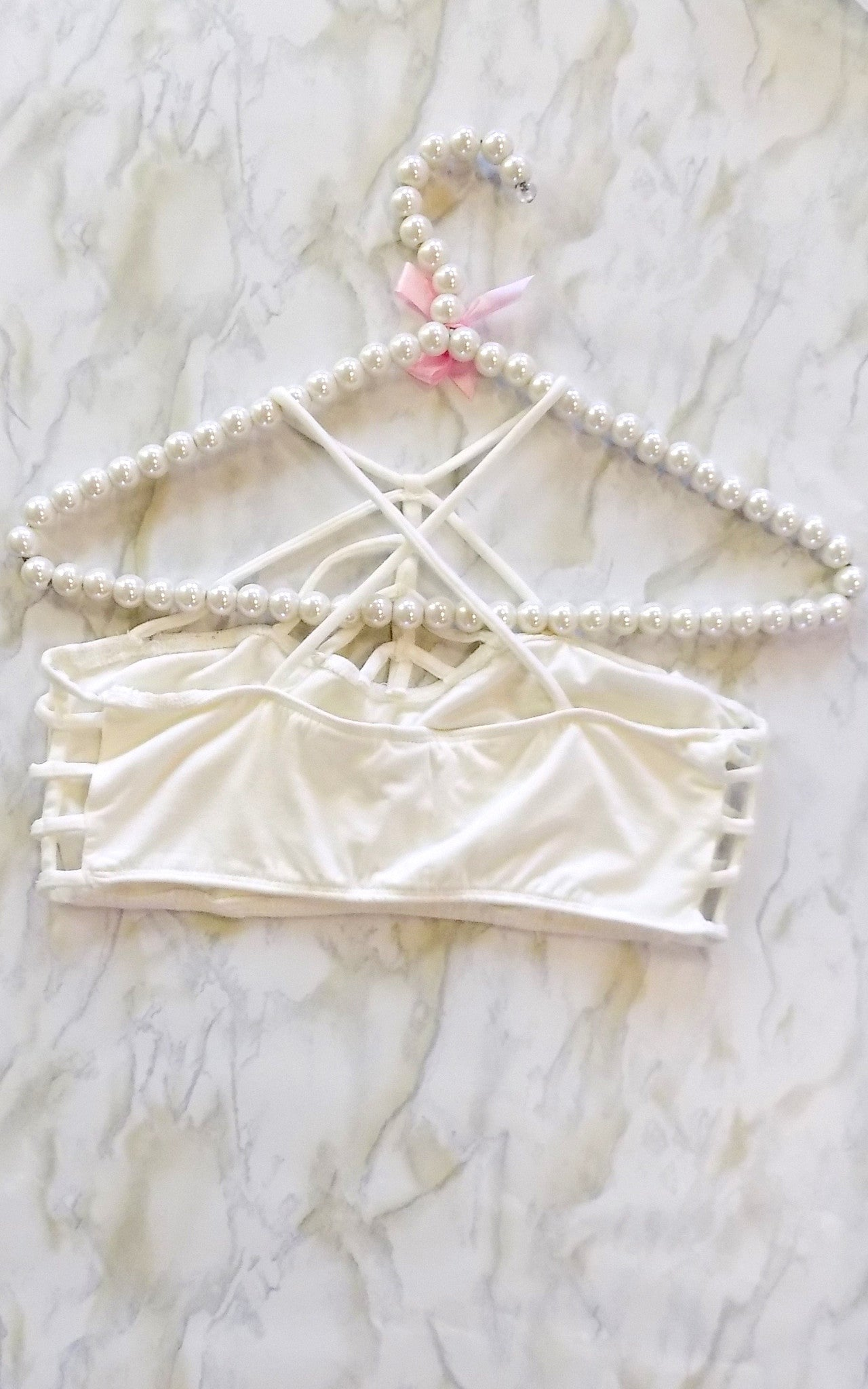 Ivory Pyramid Bralette - Dawn and Rae Boutique