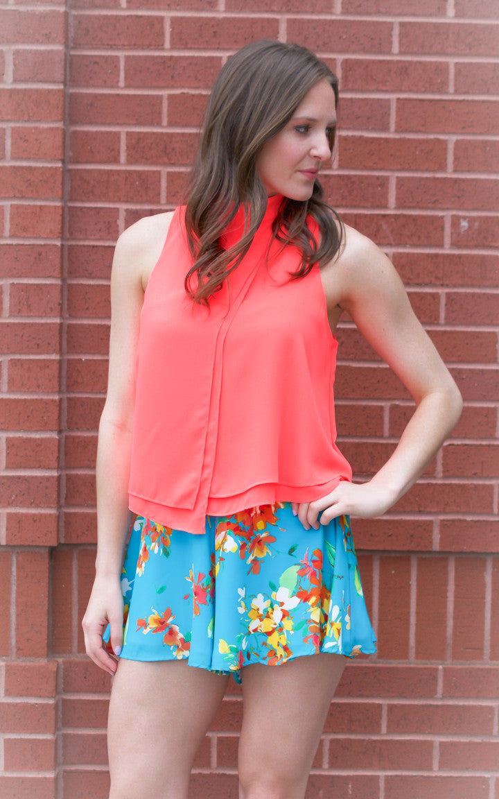 Capri Coral Tank Top - Dawn and Rae Boutique