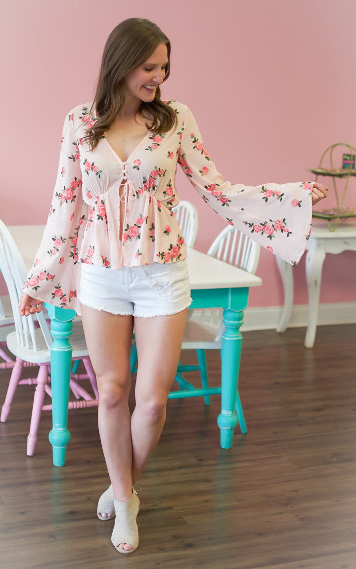 Blush Babe Floral Top - Dawn and Rae Boutique