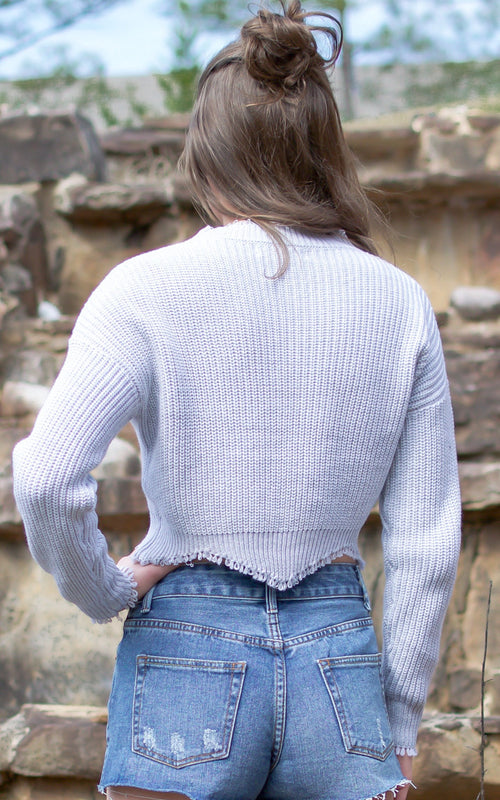 Millie Sweater Crop Top - Dawn and Rae Boutique