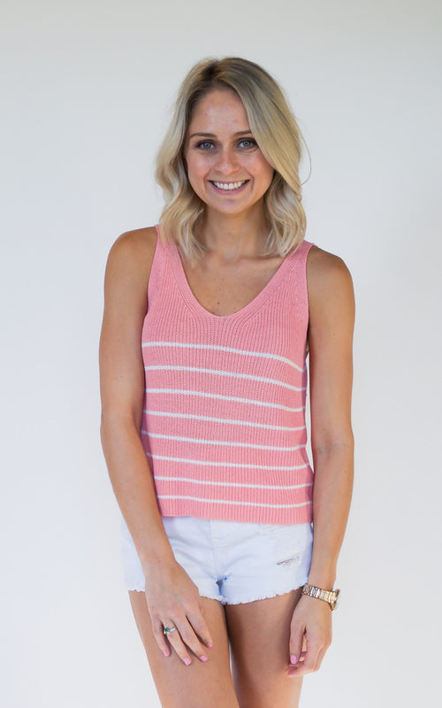 Pink Sweet Pea Knit Top - Dawn and Rae Boutique