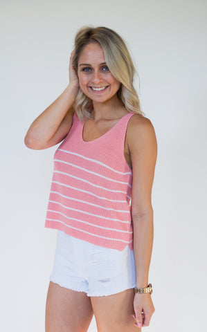 Pink Sweet Pea Knit Top - Endless Knot Boutique