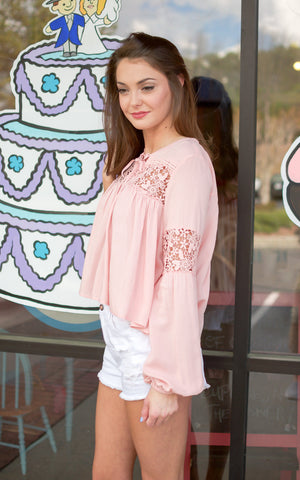 crochet lace sleeve top