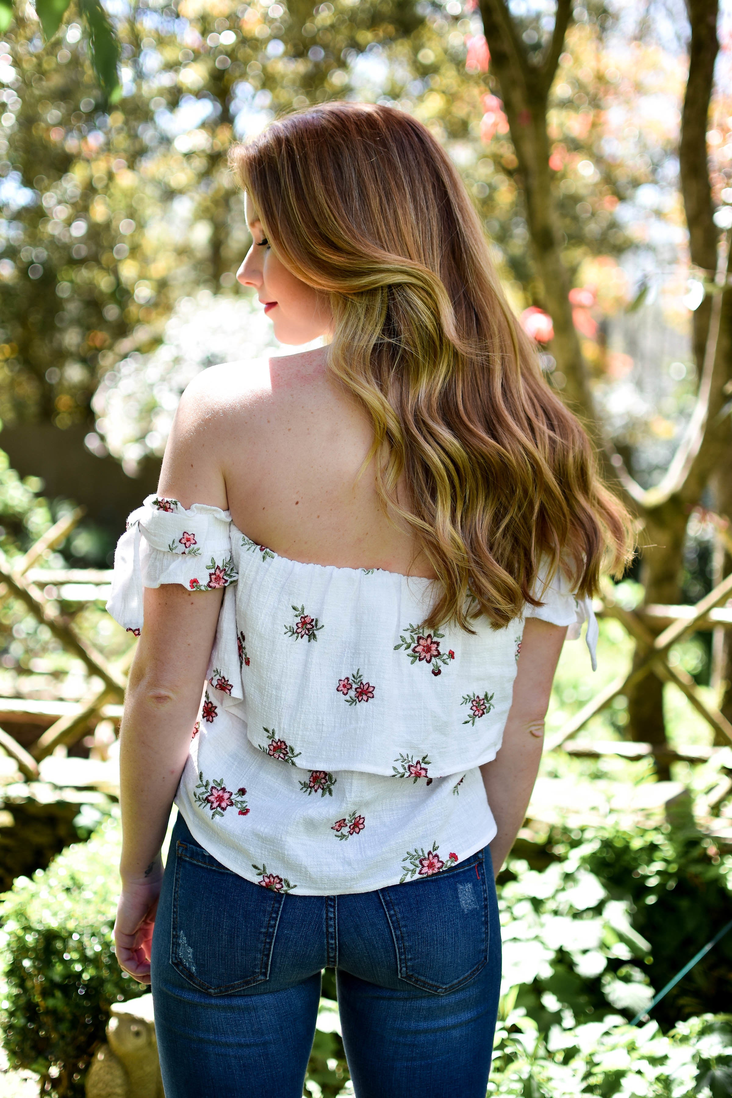 Floral Woven Ruffle Top - Dawn and Rae Boutique