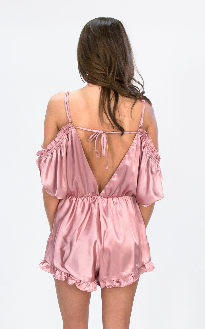 Blush Pink Romper - Dawn and Rae Boutique