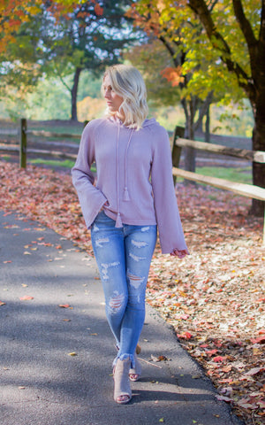 Blush Chunky Turtleneck Sweater Top