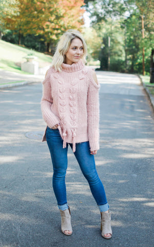 Yarn Striped Pullover Sweater