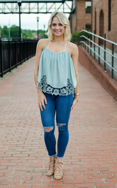 Hopelessly Devoted Embroidered Top - Endless Knot Boutique