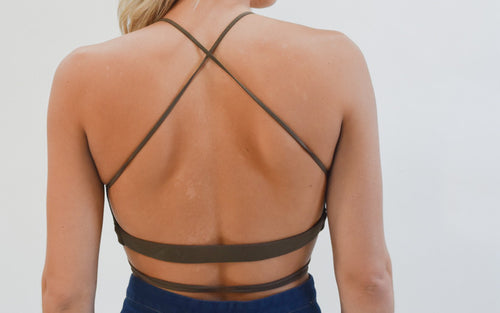 Olive Wrap Bralette - Dawn and Rae Boutique