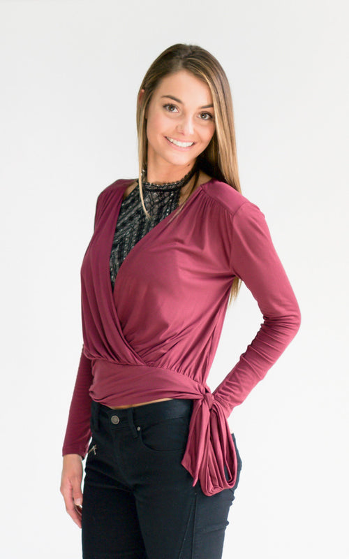 Purple Haze Knit WrapTop - Dawn and Rae Boutique