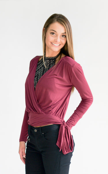 Purple Haze Knit WrapTop - Endless Knot Boutique