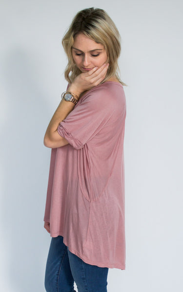 Baby Pink Basic Tee - Endless Knot Boutique