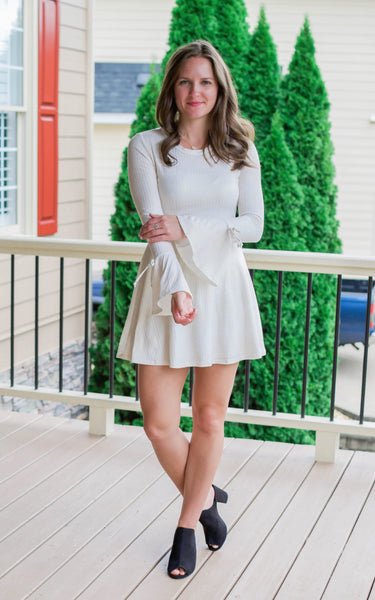 bell sleeves mini dress