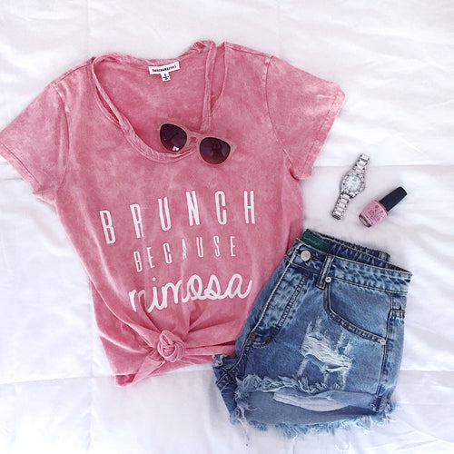 RESTOCK: Brunch Because Mimosa Tee - Dawn and Rae Boutique