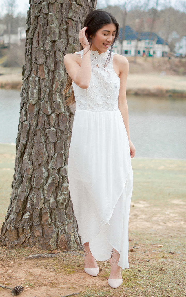 All White Crochet Lace Maxi Dress - Dawn and Rae Boutique