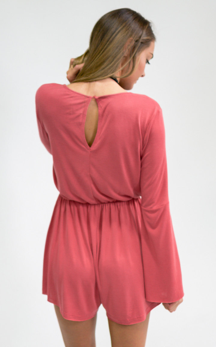 Mineral Red Knit Romper - Dawn and Rae Boutique