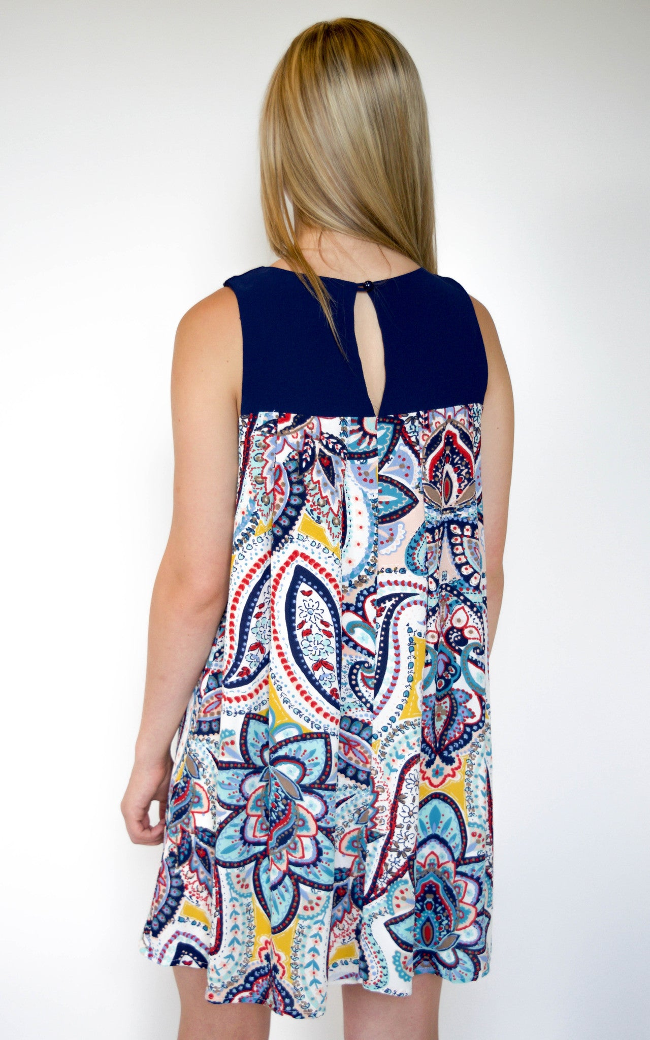 back keyhole mini dress