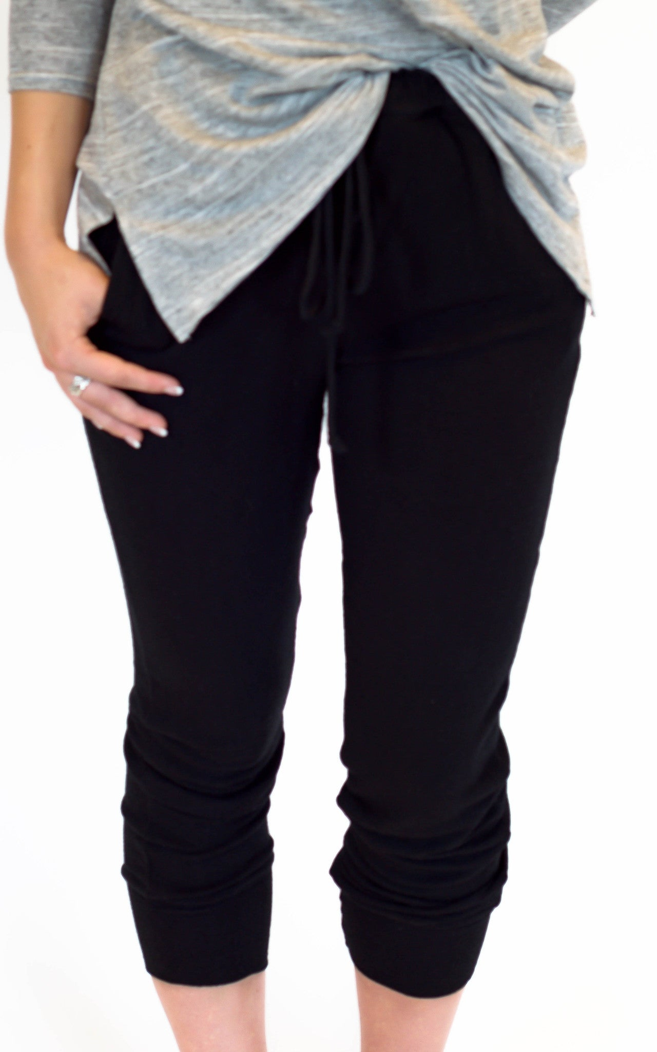 Basic Black Joggers - Dawn and Rae Boutique