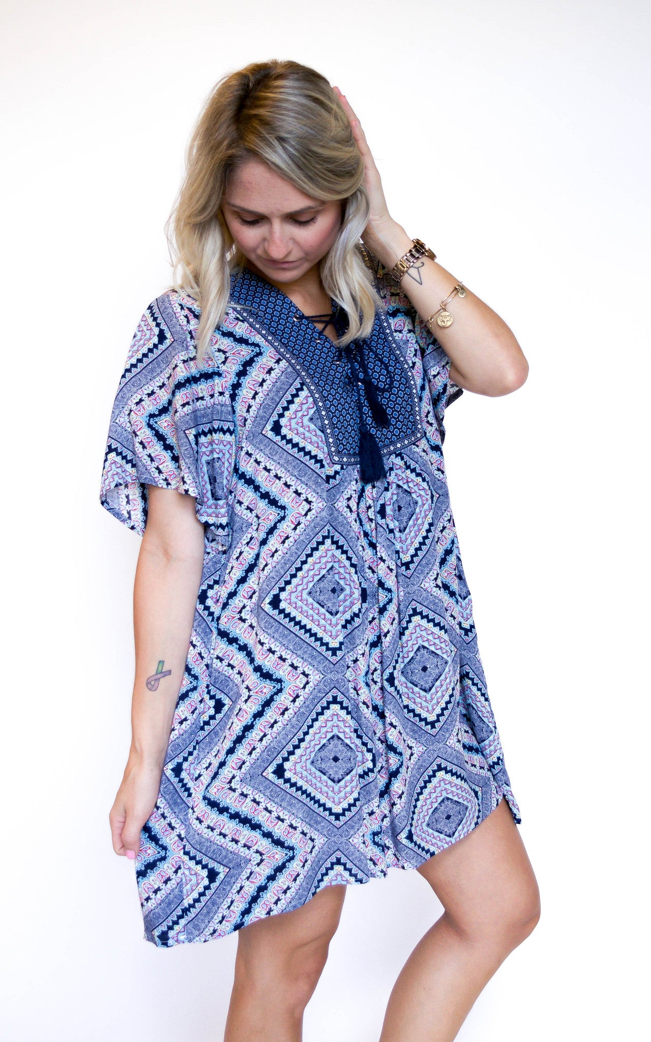 Lead The Way Blue Print Dress - Dawn and Rae Boutique