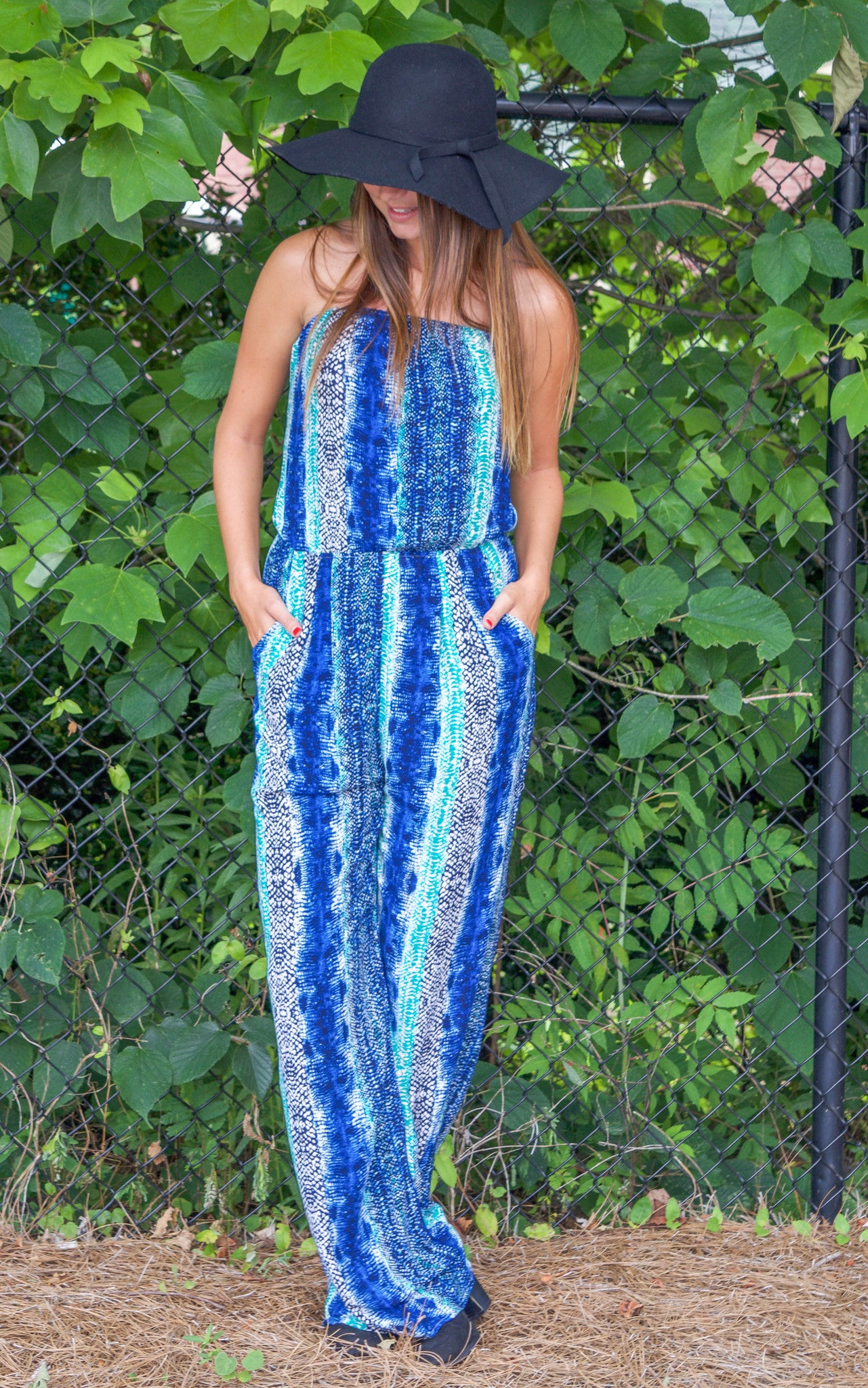 In The Night Snake Print Jumpsuit - Dawn and Rae Boutique