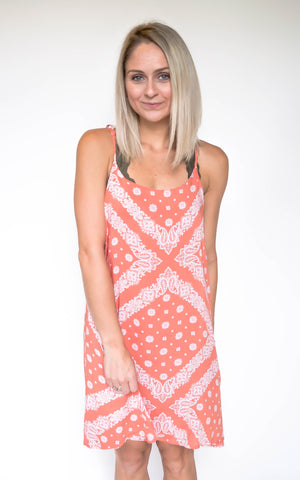 Follow The Sunset Coral Dress - Endless Knot Boutique