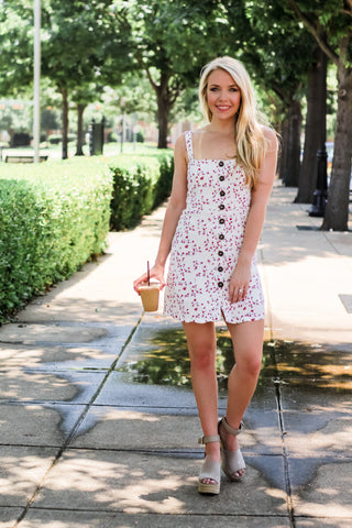 Flower Print Mini Dress