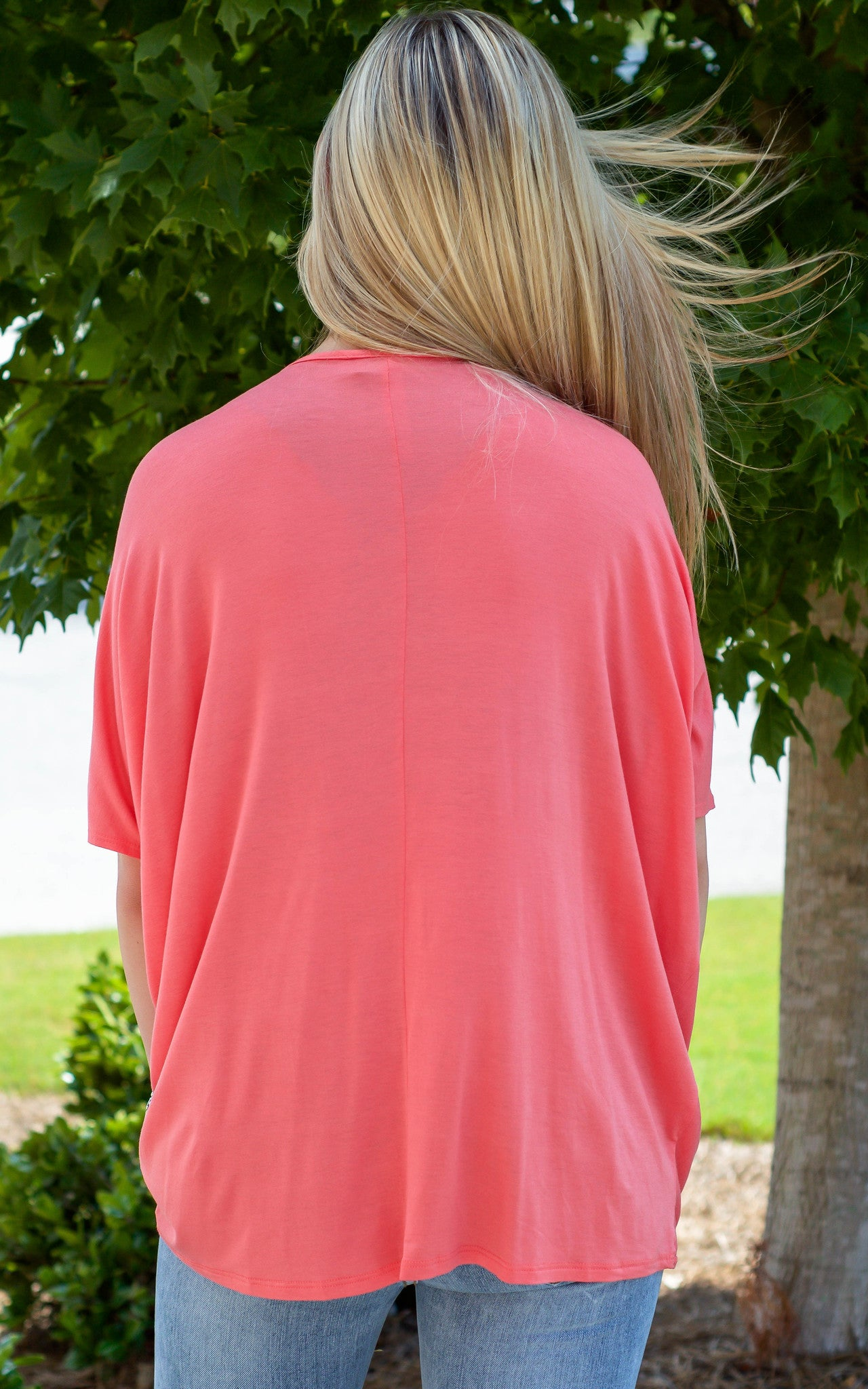 Swoop Coral Top - Dawn and Rae Boutique