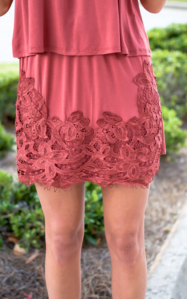 Rust Braid Mini Skirt Set - Dawn and Rae Boutique