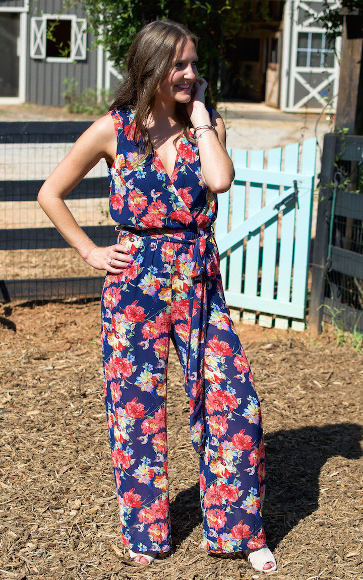 Falling Floral Jumpsuit - Dawn and Rae Boutique