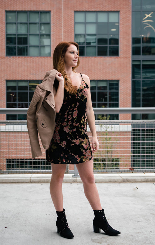 Floral Low Back Mini Dress - Dawn and Rae Boutique