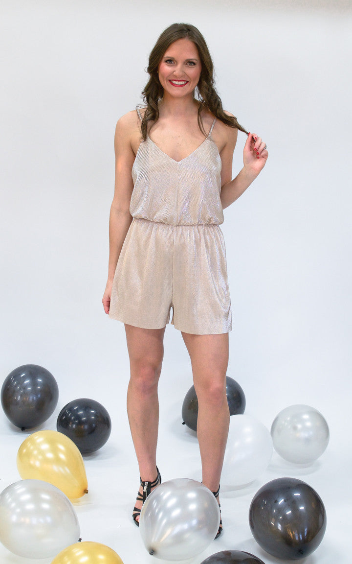 Antique Silver Romper - Dawn and Rae Boutique
